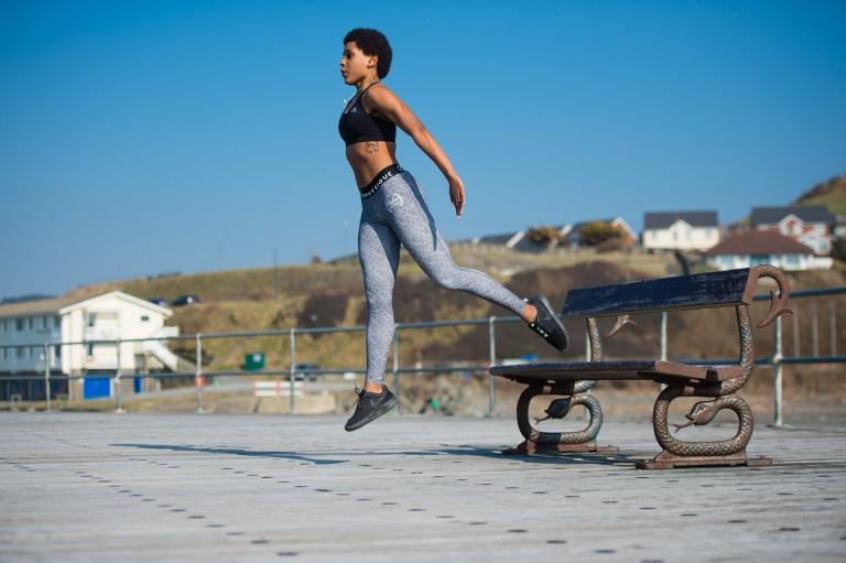 Mel Moore fitness jump