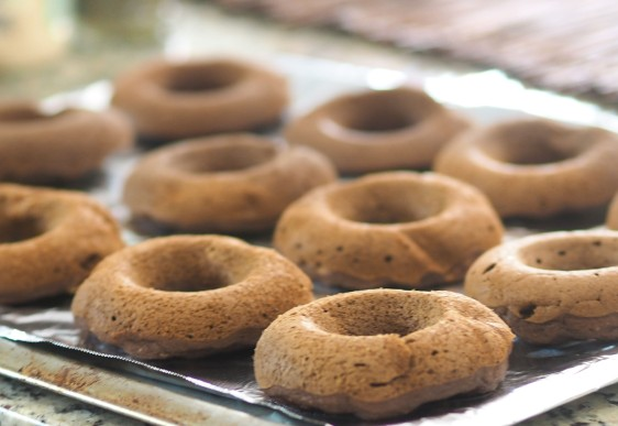 Vegan Chocolate Banana Donuts